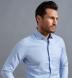 Thomas Mason Non-Iron Light Blue Pinpoint Shirt Thumbnail 3