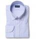 Thomas Mason Lavender and Light Blue Multi Gingham Shirt Thumbnail 1