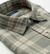Portuguese Washed Sage and Beige Large Plaid Linen Shirt Thumbnail 2