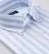 American Pima Light Blue Wide Stripe Heavy Oxford Shirt Thumbnail 2