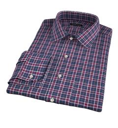 Sullivan Red and Grey Melange Check Men's Dress Shirt