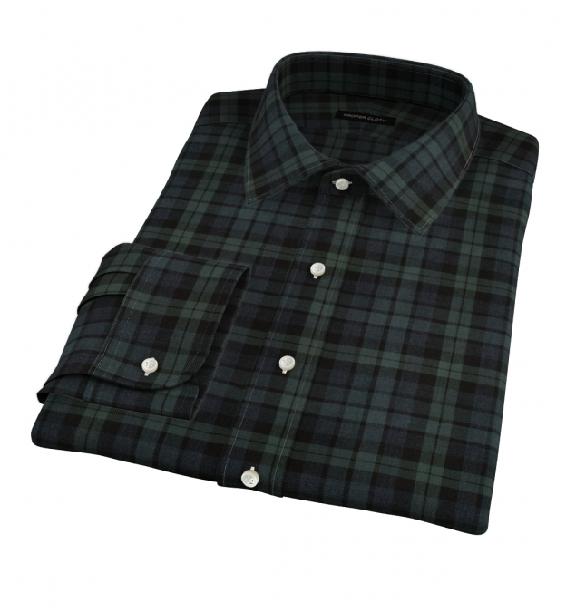 Portuguese Green and Slate Plaid Tailor Made Shirt
