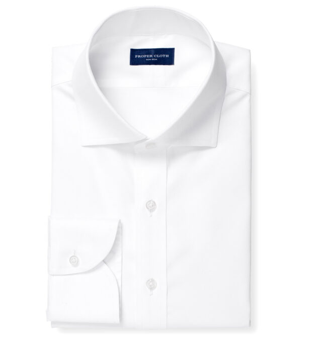 Thomas Mason Non-Iron White Twill
