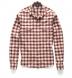 Thomas Mason Cranberry and Off White Plaid Flannel Shirt Thumbnail 2