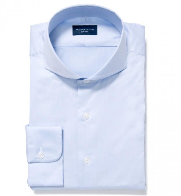 Mercer Light Blue Twill Fitted Dress Shirt