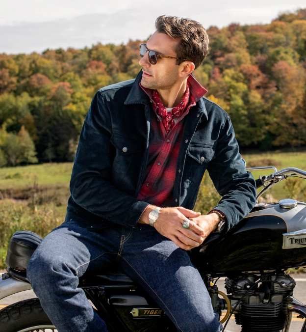 Canclini Red and Charcoal Ombre Plaid Beacon Flannel