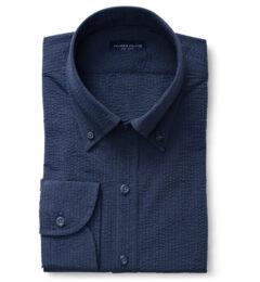 Portuguese Navy Seersucker Custom Made Shirt