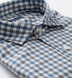 Reda Grey and Blue Melange Gingham Merino Wool Shirt Thumbnail 2