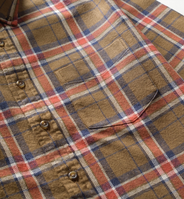 Japanese Brown and Navy Country Plaid