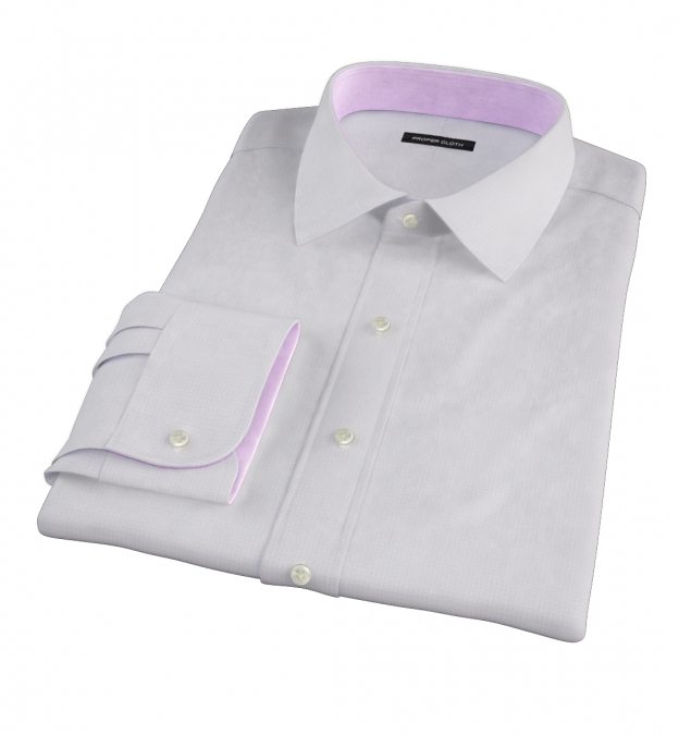 Lavender Micro Grid Men's Dress Shirt