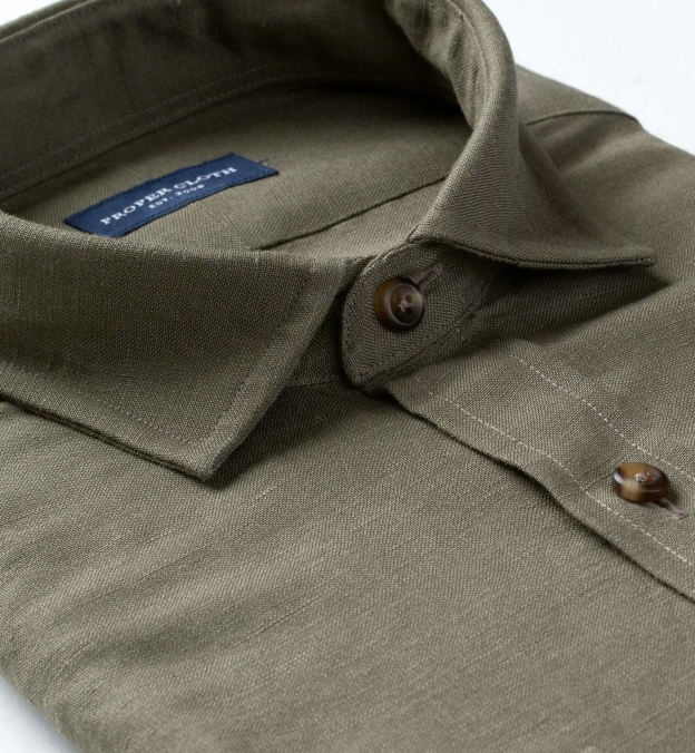 Japanese Olive Linen Rayon Blend