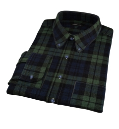 Japanese Washed Blackwatch Country Plaid Dress Shirt