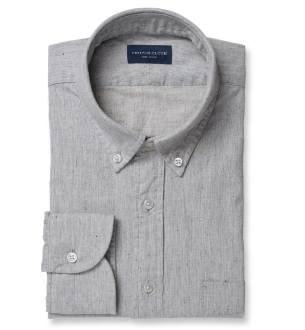 Albiate Light Grey Recycled Cotton Twill