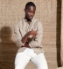 Albini Beige and White Cotton Linen Dobby Shirt Thumbnail 3