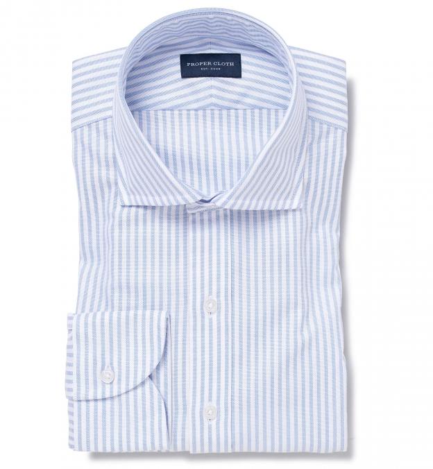 Thomas Mason Light Blue Stripe Oxford