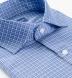 Reda Blue Small Check Merino Wool Shirt Thumbnail 2