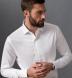Non-Iron Stretch Supima White Twill Shirt Thumbnail 3