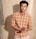 Ecru and Salmon Indian Madras Shirt Thumbnail 4