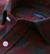 Canclini Scarlet and Grey Plaid Beacon Flannel Shirt Thumbnail 2
