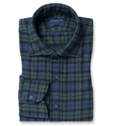Portuguese Faded Black Watch Plaid Flannel Image