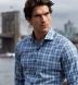 Bleecker Light Blue and Grey Melange Large Plaid Shirt Thumbnail 4