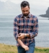 Japanese Washed Navy Gold and Faded Red Country Plaid Shirt Thumbnail 2