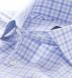Thomas Mason Blue and Grey Multi Check Shirt Thumbnail 2