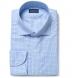 Non-Iron Supima Light Blue Multi Gingham Shirt Thumbnail 1