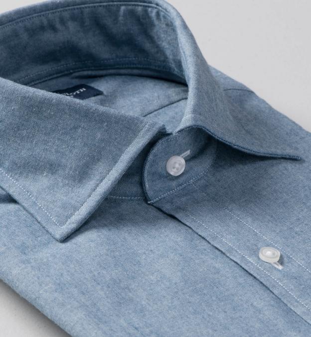 Blue Indigo Chambray Soft Roma Spread