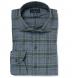 Satoyama Sage and Slate Plaid Flannel Shirt Thumbnail 1