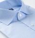 Non-Iron Stretch Light Blue Small Check Shirt Thumbnail 2