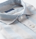 Portuguese Washed Grey and Light Blue Wide Stripe Linen Shirt Thumbnail 2