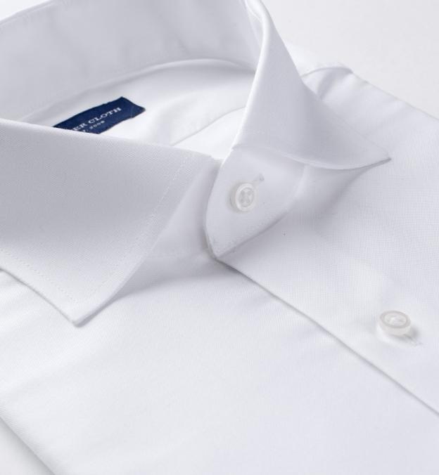 Thomas Mason Goldline White 3-Ply Oxford