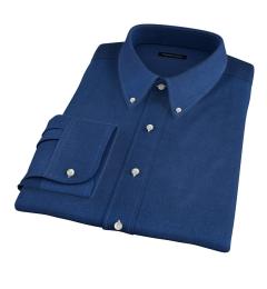 Portuguese Slate Blue Melange Oxford Tailor Made Shirt