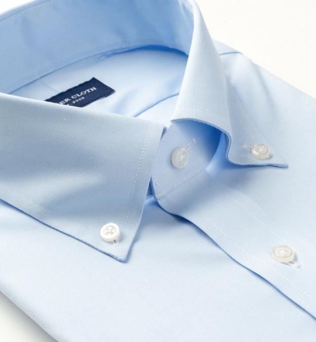 Wrinkle-Resistant Stretch Light Blue Twill