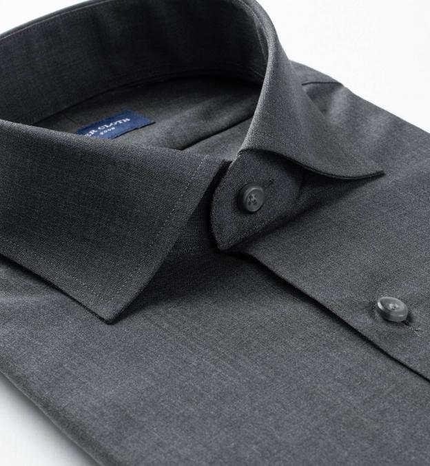 Reda Dark Grey Melange Merino Wool