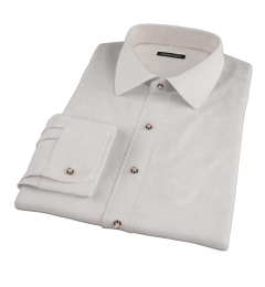 Light Grey Herringbone Flannel Fitted Shirt
