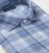 Mesa Faded Blue Cotton and Linen Plaid Shirt Thumbnail 2