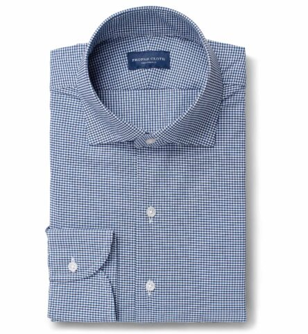 Performance Stretch Navy Small Gingham