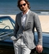Portuguese Light Grey Extra Wide Stripe Cotton Linen Oxford Shirt Thumbnail 3