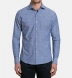 Albini Washed Foulard Print Chambray Shirt Thumbnail 3
