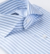 Stanton 120s Light Blue Wide Bengal Stripe Shirt Thumbnail 2