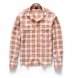 Portuguese Washed Sienna and White Plaid Linen Shirt Thumbnail 3