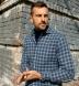 Whistler Slate and Light Blue Windowpane Flannel Shirt Thumbnail 4