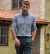 Vittoria Chambray Blue Linen Shirt Thumbnail 3