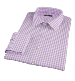 Light Purple Gingham Custom Made Shirt