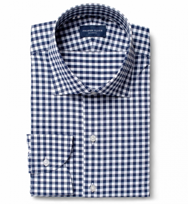 Performance Navy Blue Gingham