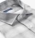 Albini Light Grey Ombre Plaid Linen Shirt Thumbnail 2
