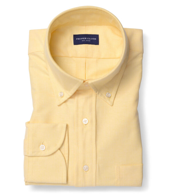 American Pima Yellow Heavy Oxford