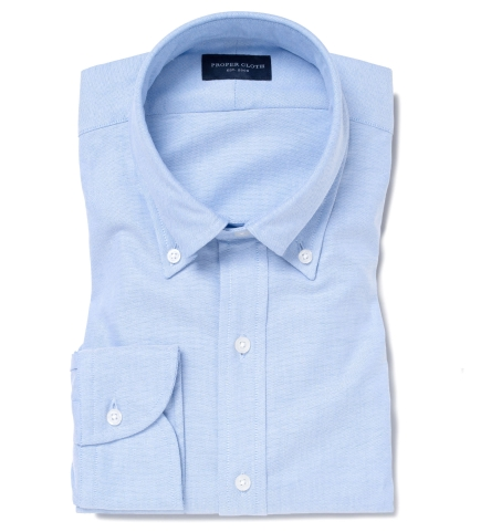 656f0f5677a Thomas Mason Light Blue Oxford Dress Shirt by Proper Cloth